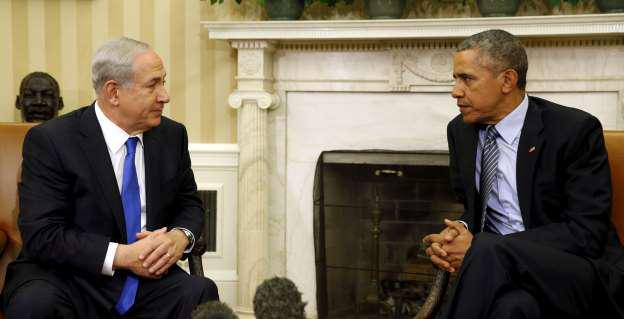 US President Barack Obama meets with Israelí P.M. Netanyahu in the Oval office